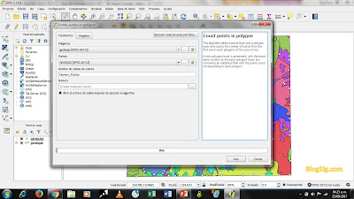 Contar puntos en poligonos QGIS 3