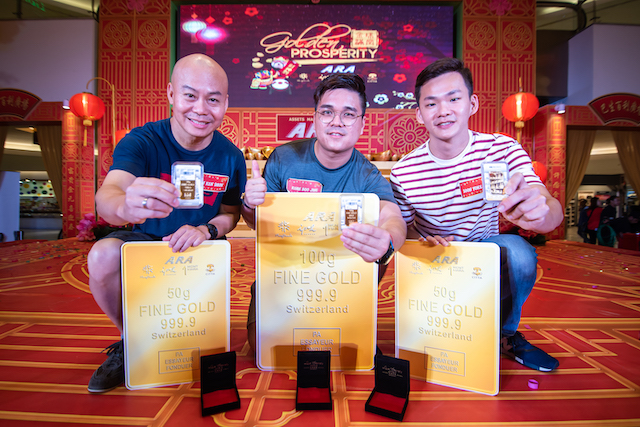 100g Gold Bar WON & More @ Grand Finals of ARA's Golden Prosperity CNY Campaign