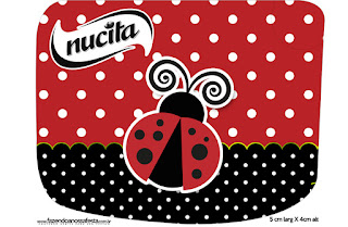 Ladybug Party Free Printable Candy Bar Nucita Labels.