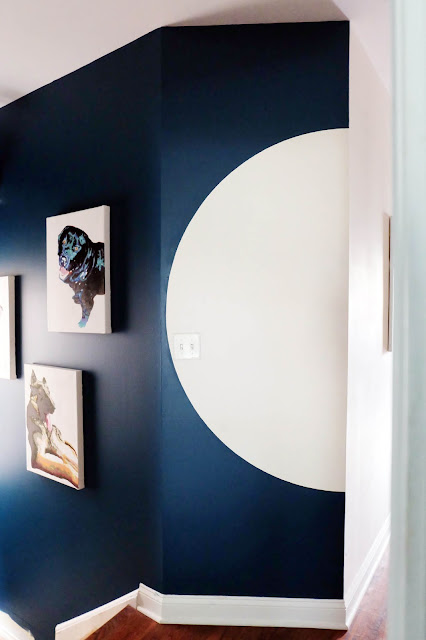 half moon arc paint finish wall shape trend