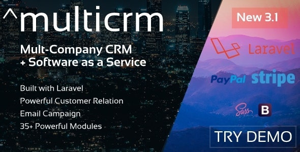 Multicrm v3.1.5 - Multipurpose Powerful Open Source CRM Download