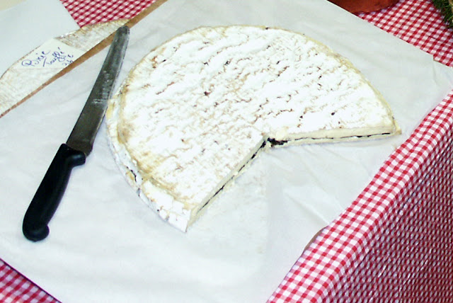 Brie with a layer of truffle, France. Photo by Loire Valley Time Travel.