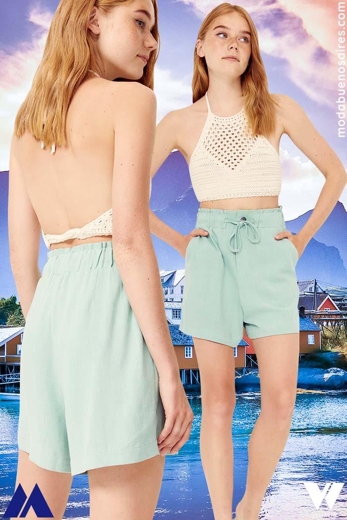 shorts verano 2022 moda verano mujer 2022