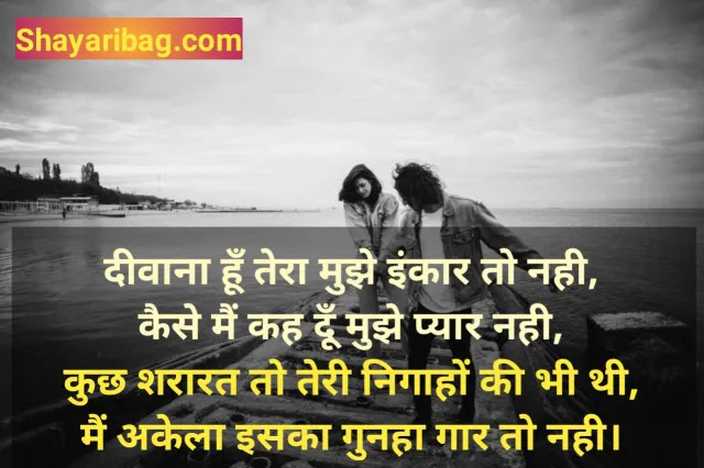 Dil Love Shayari Hindi Photo