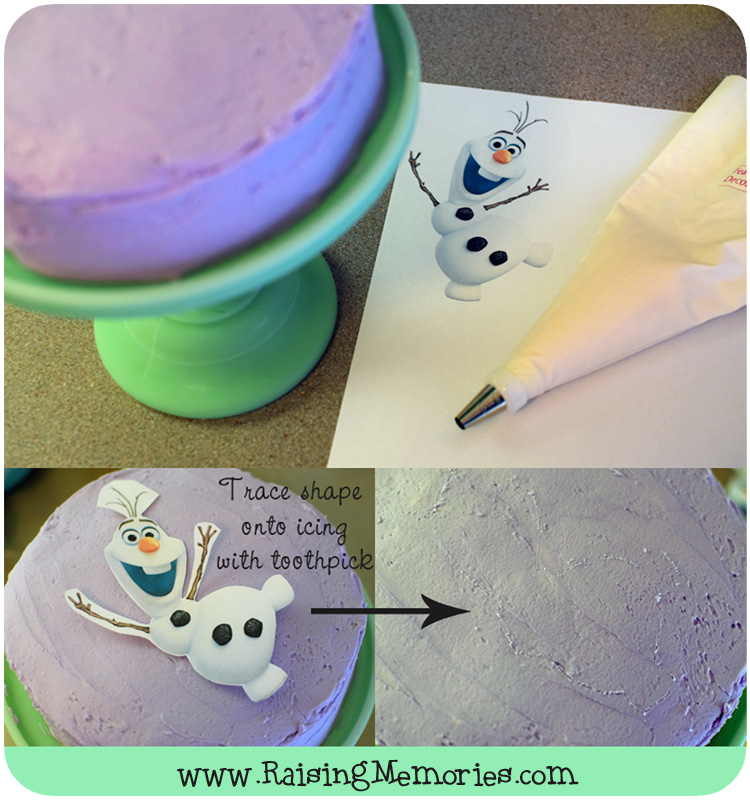 How to Make Olaf with Icing