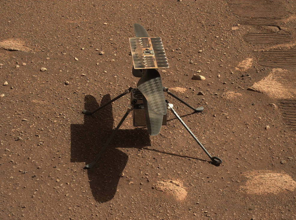 Mastcam-Z Gives Ingenuity A Close-up