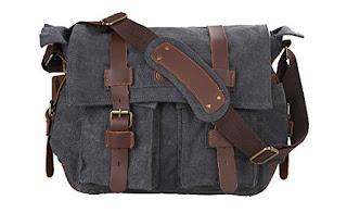 Best Budget Camera Messenger Bag - Kattee Men's Canvas Leather Bag