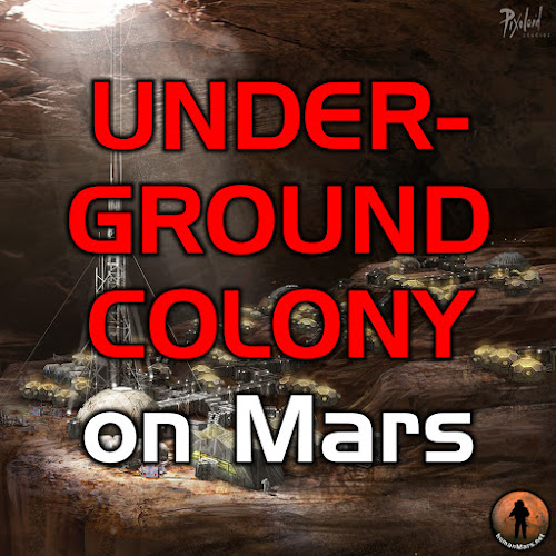 Underground colony on Mars