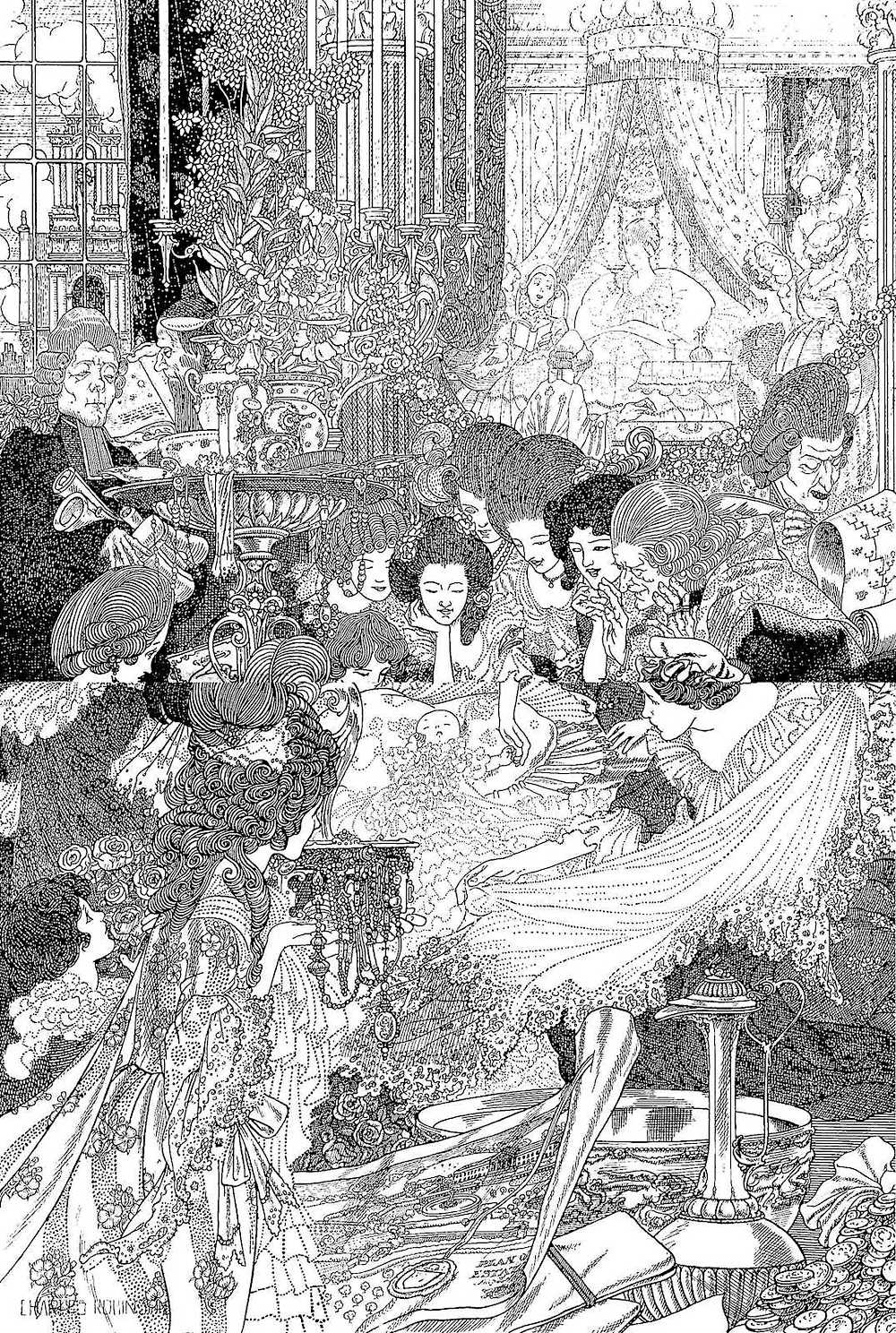 Charles Robinson, new baby, center of attention, Rococo baby