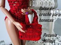 DIY- Bolsa de Crochê Moda Praia Para Bonecas Barbie  Passo a Passo
