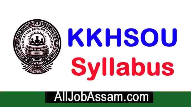 KKHSOU Syllabus 2020
