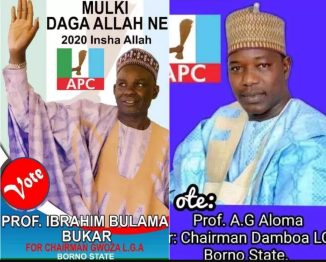 2 Professors were declared winners of Local Government Chairmanship election in Borno State