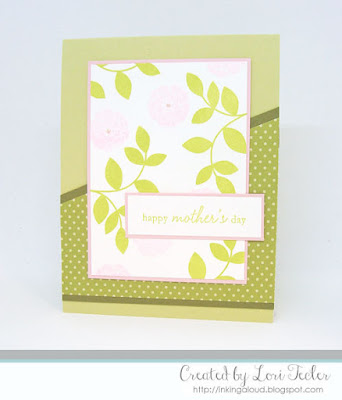 Happy Mother's Day card-designed by Lori Tecler/Inking Aloud-stamps from Papertrey Ink