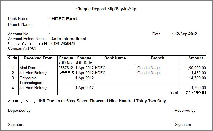Bank of america blank deposit slip autos post for Checking deposit slip template