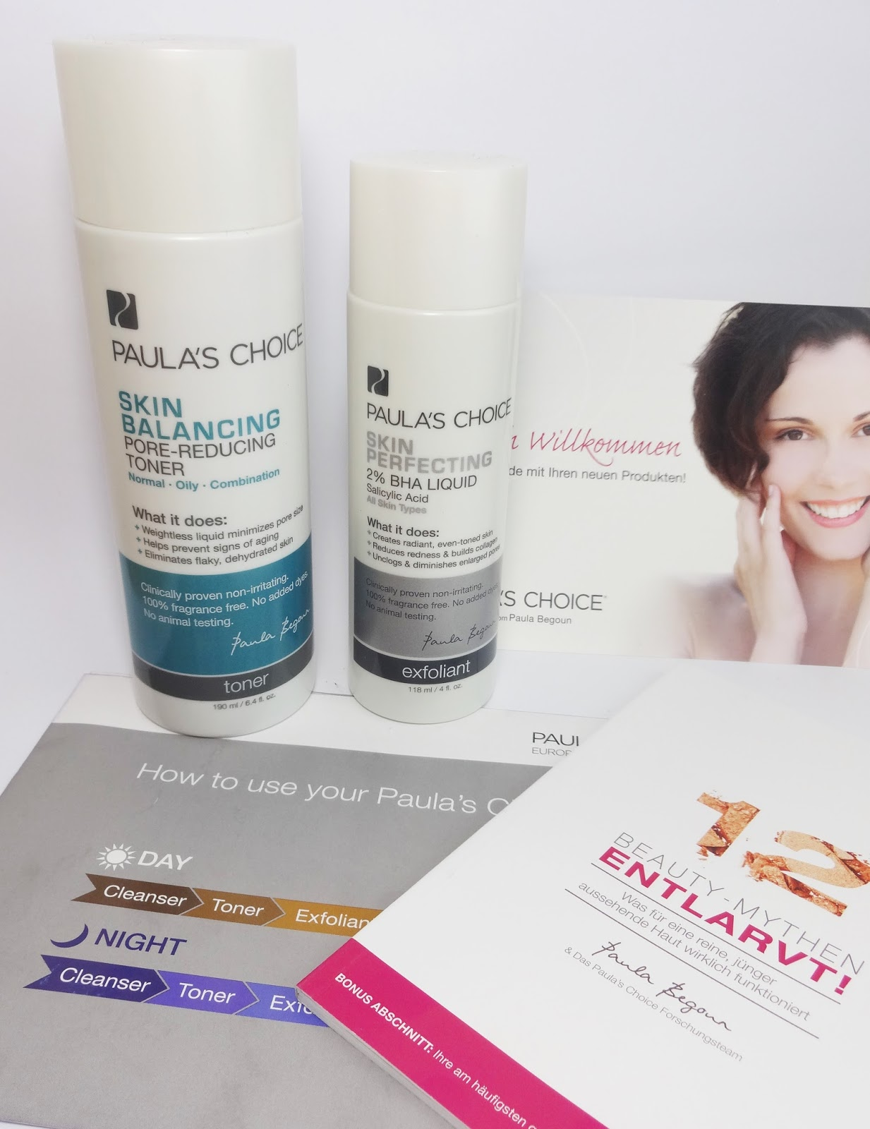 Paula's Choice - Skin Perfecting 2% BHA Liquid & Skin Balancing Pore-Reducing Toner Shopping Haul Pretty Clover Beautyblog