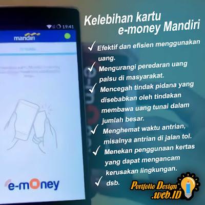 Kelebihan kartu elektronik e-money Mandiri