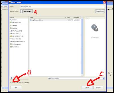 Cara Convert Gambar di GIMP 5