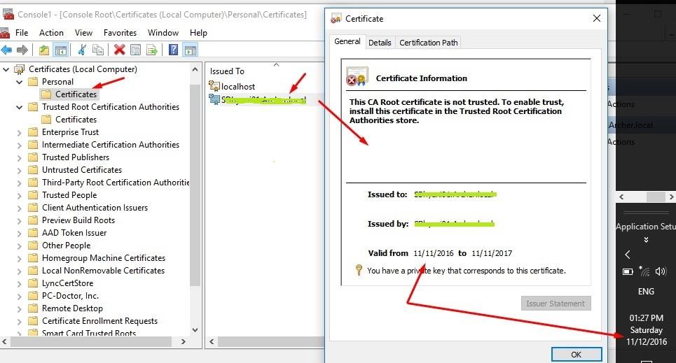 Microsoft Dynamics NAV 2017 - Create an SLL Certificate. - Microsoft ...