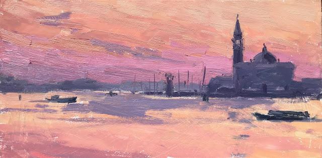 #378 'Early Morning, San Giorgio Maggiore' 6×12″