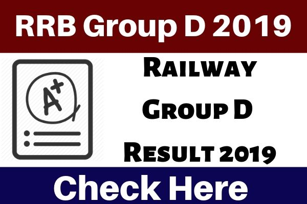RRB Group D Result 2019 - Check 103769 Post Railway Group D Result 2019