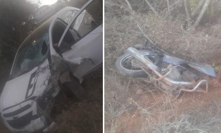 Motociclista morre após ser atingido por carro na BR-030 em Brumado