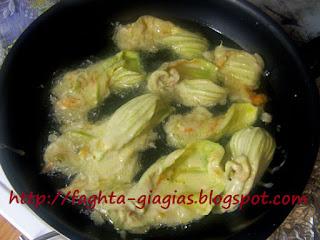 Κολοκυθολούλουδα τηγανιτά με χυλό σόδας - από «Τα φαγητά της γιαγιάς»