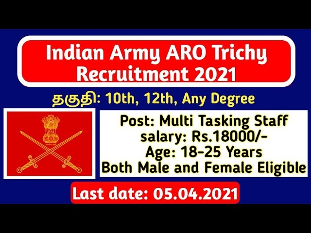 ARO Trichy Recruitment 2021