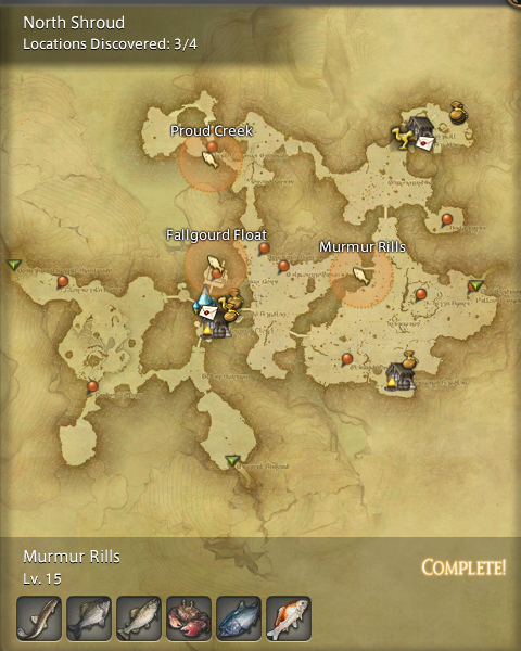 Final Fantasy 14 Fishing Spot Maps Amp Locations GamingReality