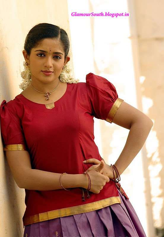 GlamourSouth.blogspot.in: Kavya Madhavan hot and cute in langa voni, Salwar and Saree