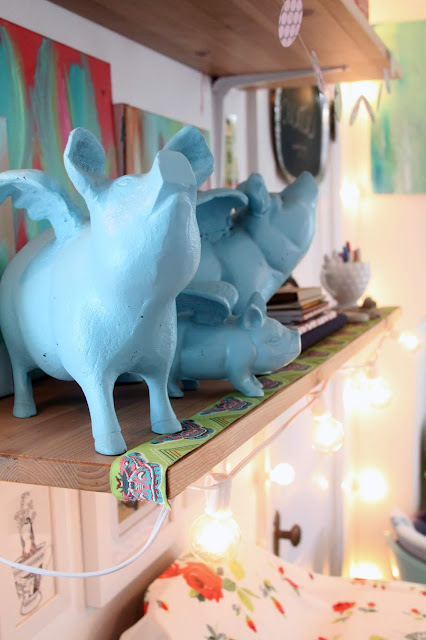artist studio, winged pigs, flying pigs, inspiration, Anne Butera, My Giant Strawberry