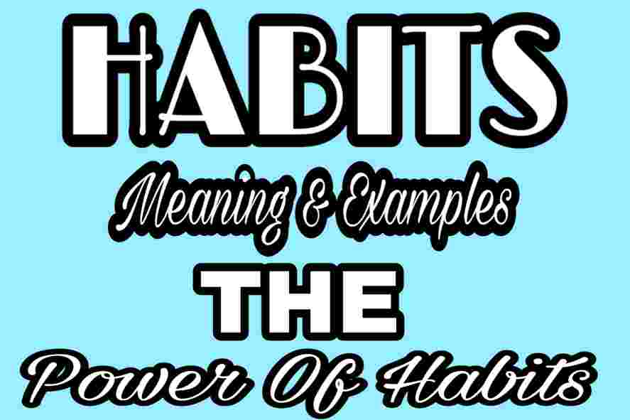 Habits Meaning And Examples | The Power Of Habits