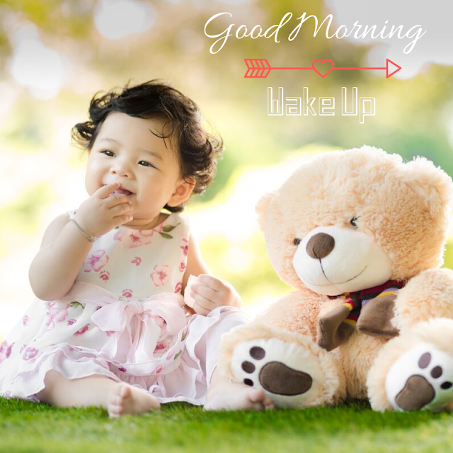 Happy Good Morning Images with cute girl baby