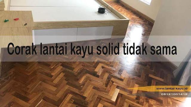 Corak Lantai kayu solid lebih unik