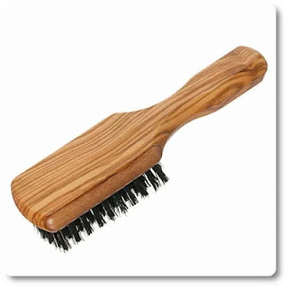 13 Redecker Wild Boar Bristle Men's Hairbrush with Waxed Olive Wood Handle