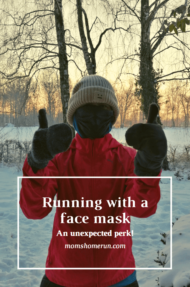 Running with a face mask