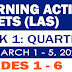 LEARNING ACTIVITY SHEETS (Q3: Week 1) March 1-5, 2021
