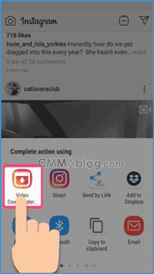 cara mengambil video di instagram orang