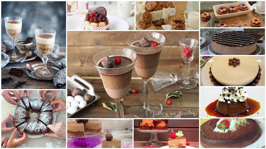 Recetas con chocolate. Julia y sus recetas