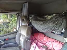Lorry's sleeping quarters