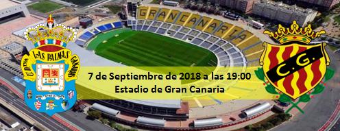Previa UD Las Palmas - Gimnástic de Tarragona 7 Septiembre