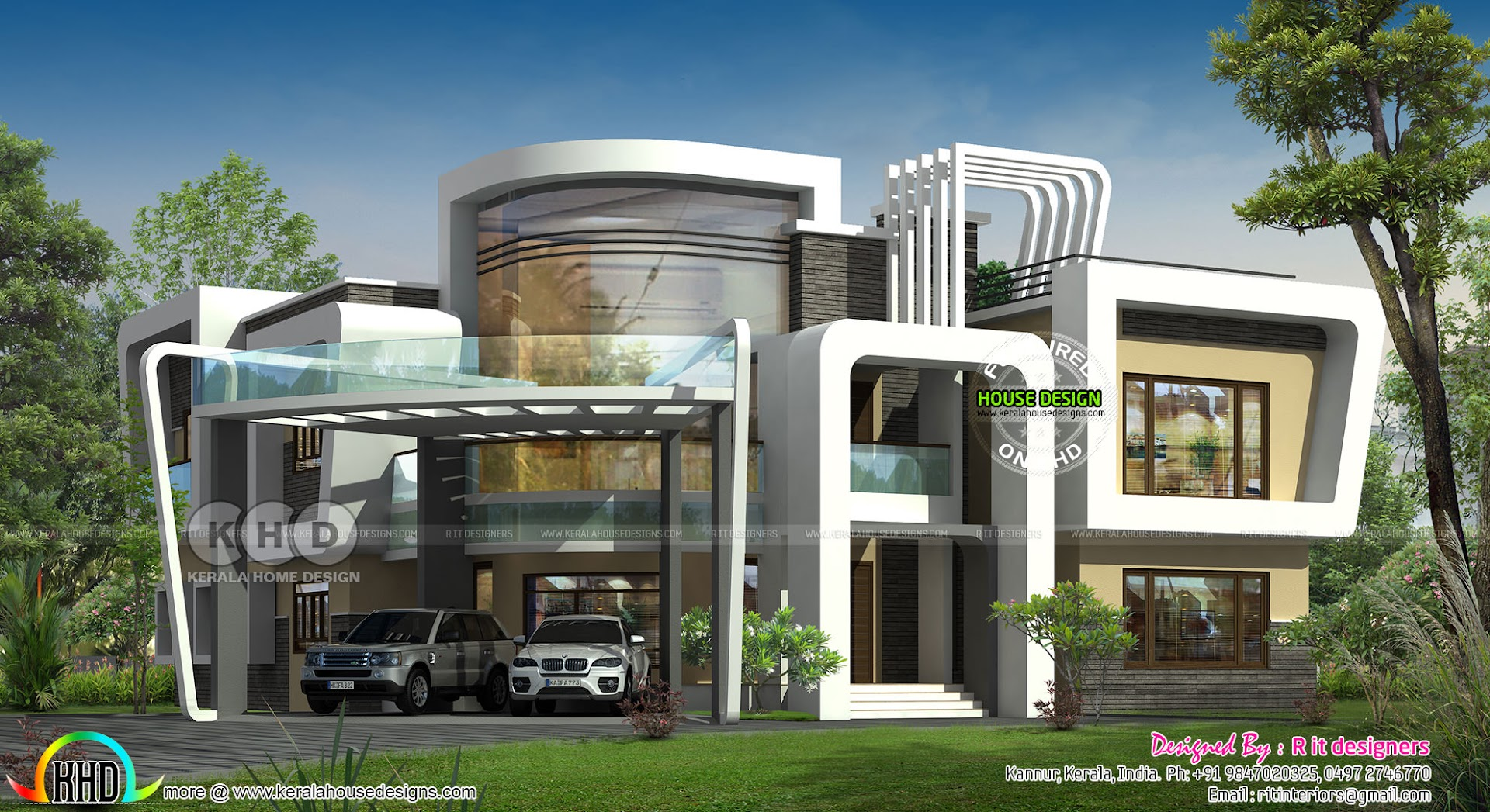 Unique ultra modern house plan - Kerala home design and ...