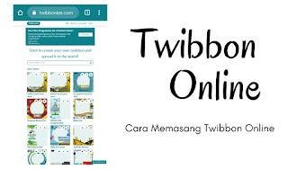 Cara Memasang Twibbon Online