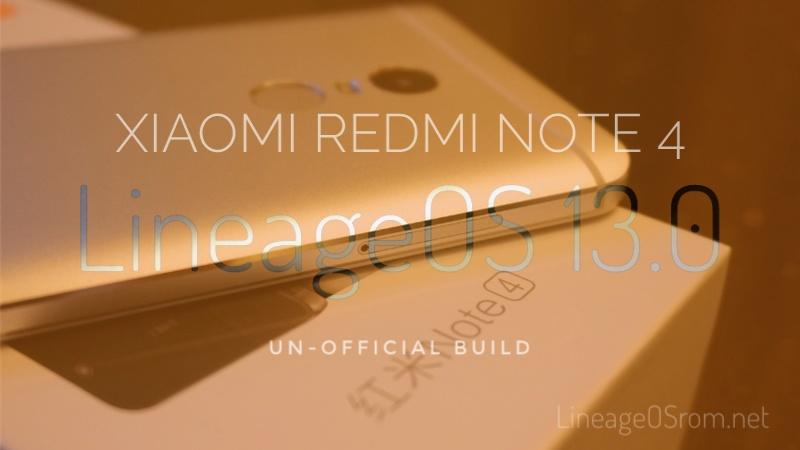 LineageOS for Xiaomi Redmi Note 4