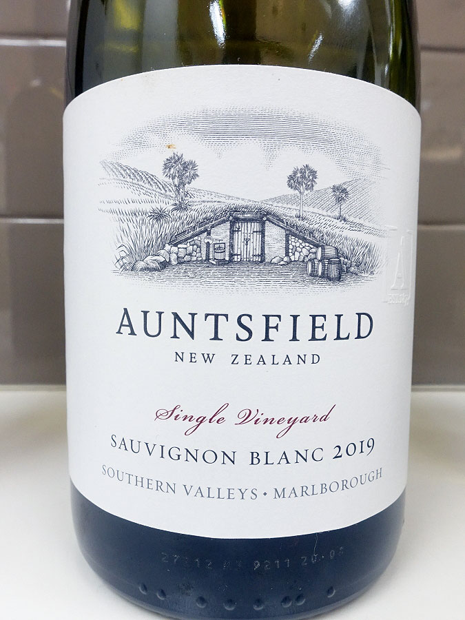 Auntsfield Single Vineyard Sauvignon Blanc 2019 (90 pts)