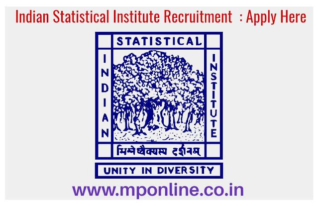 Indian Statistical Institute Recruitment 2020