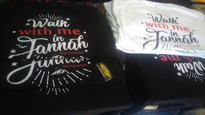Kaos Islami Walk with me in Jannah - Distro Muslim
