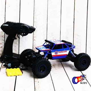 Mobil Remot 4WD Rock Crawler Hero Car Offroad 2.4Ghz 1 : 18 Biru