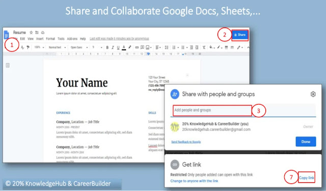 Share and Collaborate Google Docs, Sheets,...