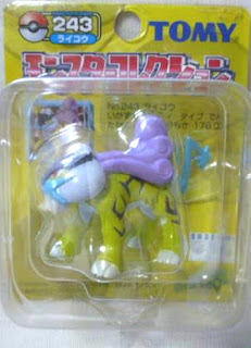 Raikou Pokemon figure Tomy Monster Collection yellow package series