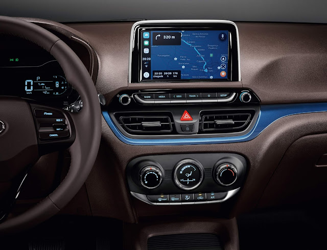 Novo Hyundai HB20X 2020 - interior - central multimídia